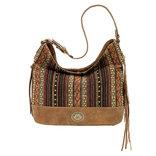 Bandana Women's American West Serape Shoulder Bag Brown One Size