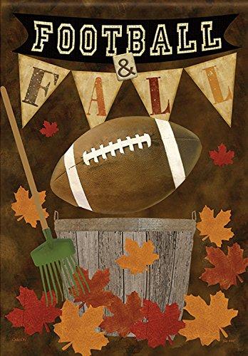 Football Fall Garden Flag Autumn Leaves Decorative Sports 12.5