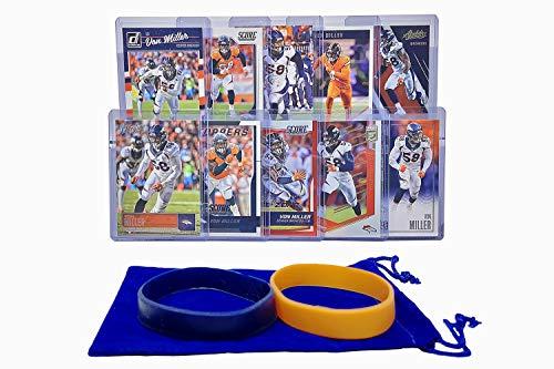 Von Miller Football Cards Assorted (10) Bundle - Denver Broncos Trading Card ()