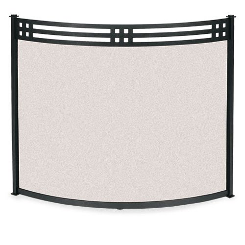 Craftsman Style Bowed Fireplace Screen (44 in. Width)