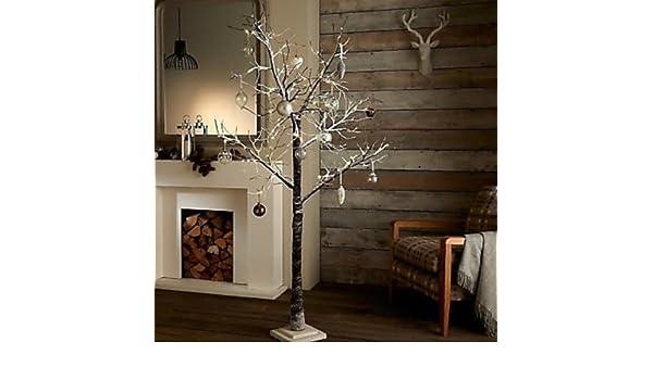 Garden mile Rústico De lujo Marrón Ramitas Rama árbol con Nieve Efecto Preiluminado con LED Luces Árbol Navidad rústico nieve efecto árbol Invierno Ramas ...