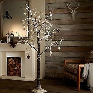 Garden mile® Rustic 6ft Luxury Brown Twig Tree Birch Christmas Tree With  Snow Effect Pre - Garden Mile® Rustic 6ft Luxury Brown Twig Tree Birch Christmas Tree