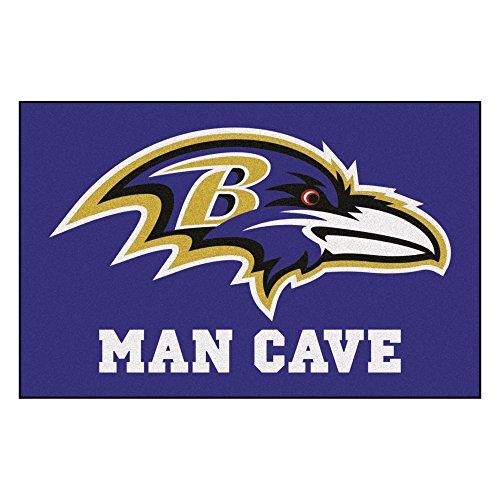 FANMATS 14269 NFL Baltimore Ravens Nylon Universal Man Cave Starter ()