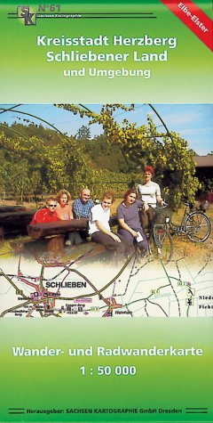 Kreisstadt Herzberg - Schliebener Land und Umgebung: Wander- und Radwanderkarte 1:50 000