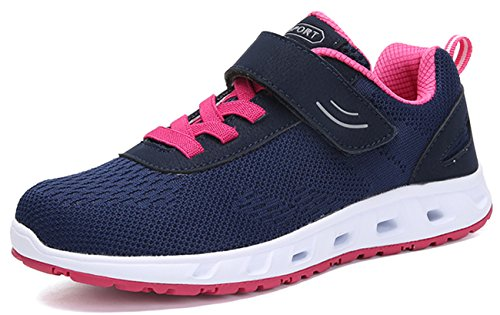 Newcolor Confort Velcro Tricot Rose Couple Formateurs Marche Bleu Baskets Mode Gym Unisexe Et OfqwrO