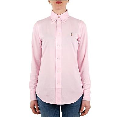 60b89c11642 Ralph Lauren Chemise Polo en Coton piqué Rose pour Femme  Amazon.fr ...