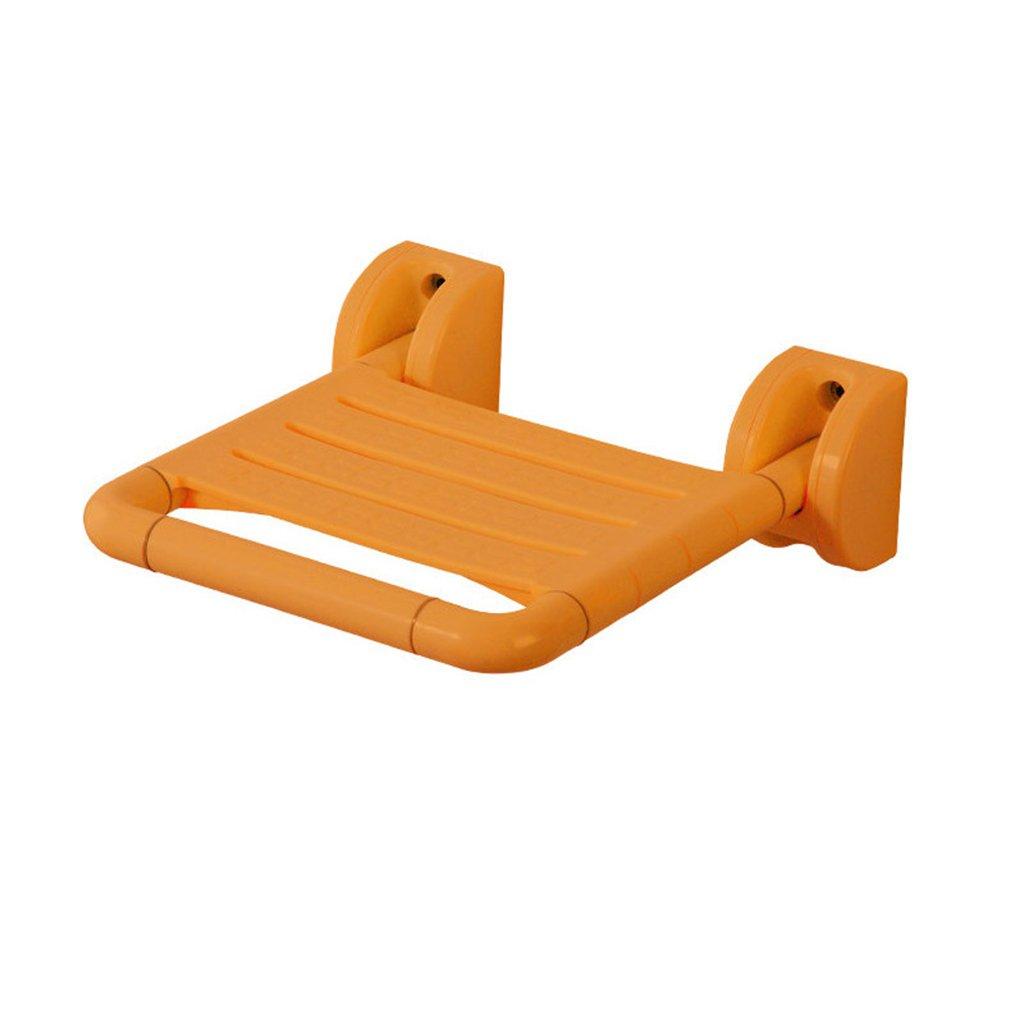 バスルーム折りたたみスツール古いバスルームシャワールームノンスリップバスチェア障害シャワーチェア (色 : イエロー いえろ゜, サイズ さいず : A) B07DFJVP6H A|イエロー いえろ゜ イエロー いえろ゜ A