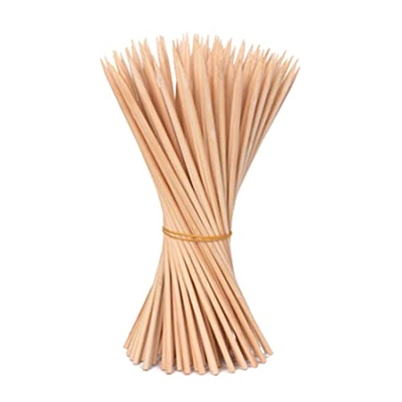 Kreativ India Barbecue Party Wooden Kebab Skewers Sticks, 6 inch/1 x 90 nos, Beige