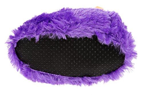 gibra - Zapatillas de estar por casa de tela para niño morado
