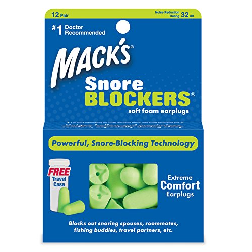 Macks Snore Blockers Earplugs 12 Pair