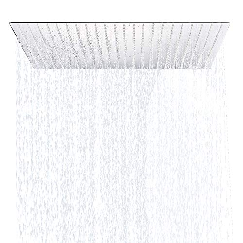 Rozin Bathroom Oversize 24 Inch Square Rainfall Shower Head Chrome Finish