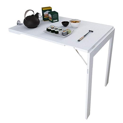 Mesa de comedor plegable, montada en la pared, mesa de comedor ...