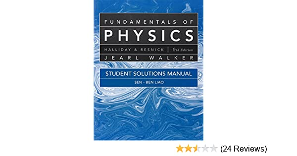 amazon com student solutions manual for fundamentals of physics rh amazon com solution manual for fundamentals of physics 5th edition solution manual for fundamentals of physics extended 9th edition by halliday