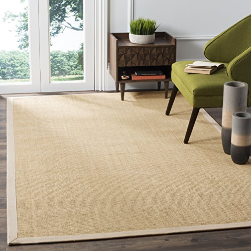 Safavieh Natural Fiber Collection NF441K Hand Woven Maize and Wheat Sisal Area Rug 6 x 9