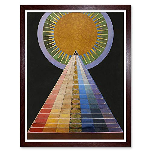 (Wee Blue Coo Painting Hilma Af Klint 1907 Altarpiece No 1 Group Art Print Framed Poster Wall Decor 12x16 inch)