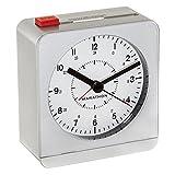 MARATHON CL030053SV Analog Desk Alarm Clock With Auto-Night Light & Silent Quartz - Batteries Included