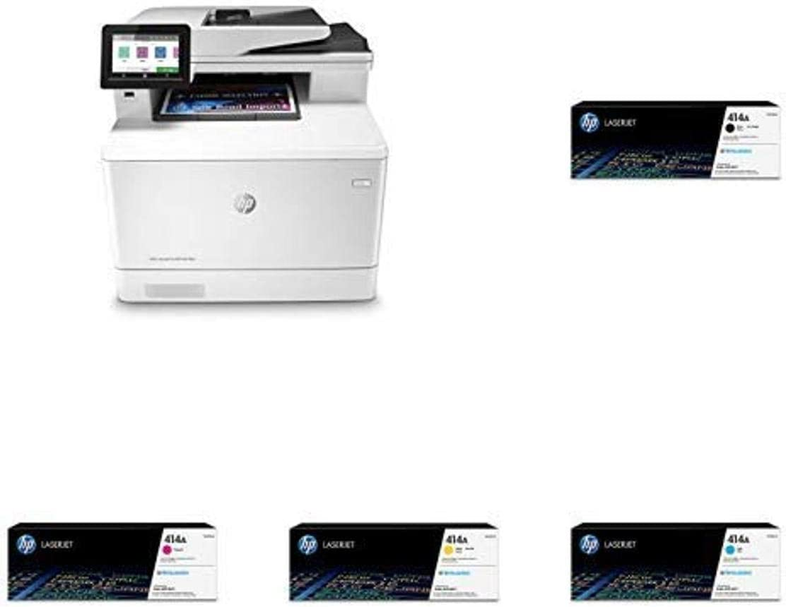 HP Color Laserjet Pro Multifunction M479fdn Laser Printer with Standard Yield 4 Color Toner Cartridges