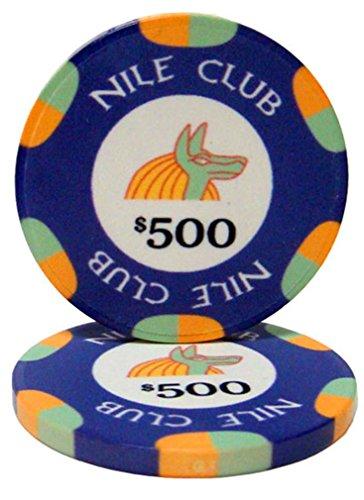 - Bry Belly CPNI-$500 25 Roll of 25 - $500 Nile Club 10 Gram Ceramic Poker Chip