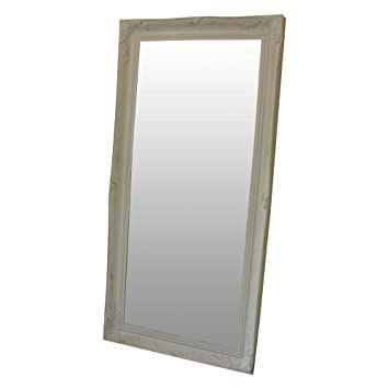 Melody Maison Extra Large White Ornate Wall/Floor Mirror 158cm x 78cm