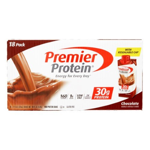 Premier nutrition high protein shake, chocolate 11 oz.,18 count