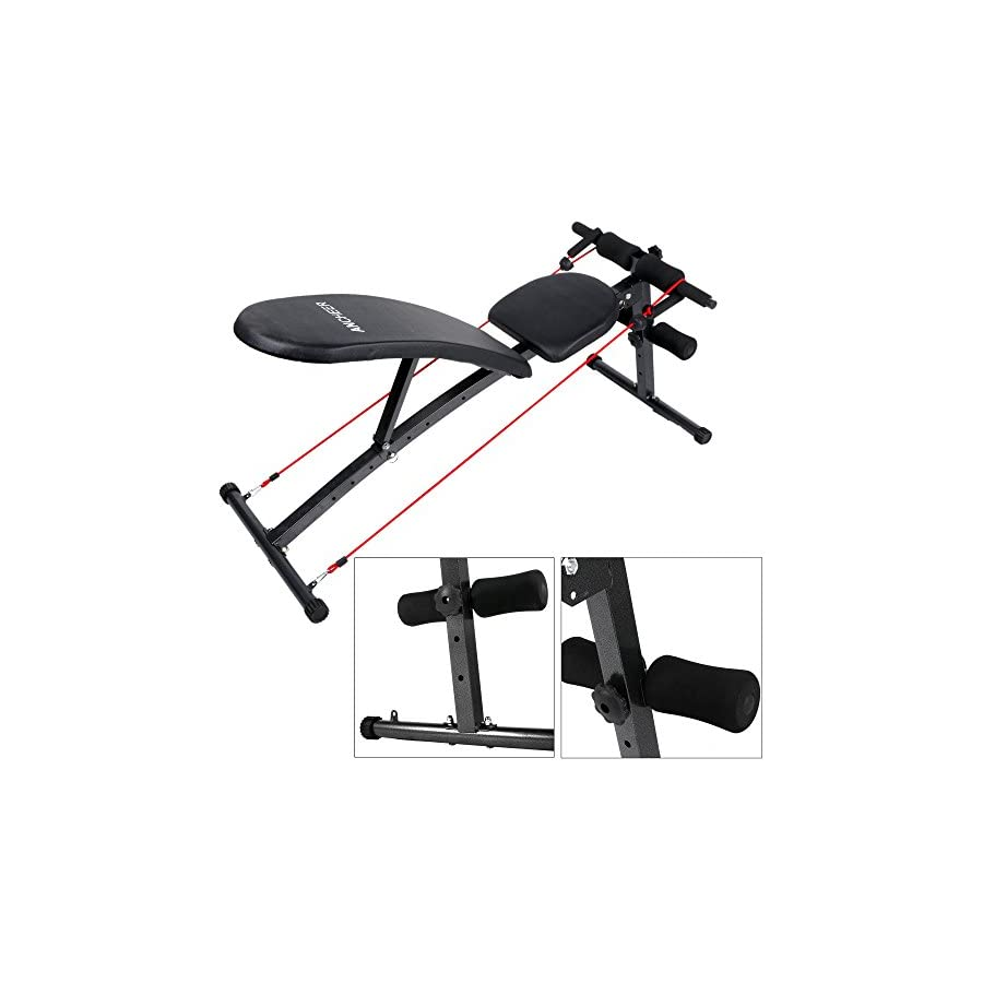 Ancheer Weight Bench Adjustable Sit Up Bench Incline Decline Workout AB Bench