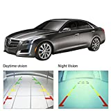 """Noiposi Backup Camera and Monitor kit for Car Universal Waterproof Night Vision Linsence Plate Rear view Camera and 4.3"""" TFT LCD Rear view Monitor"""