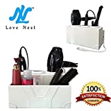 mdf countertop - Love Nest White Personal Snake PU Leather Ceramic Countertop Hair Drying Holder Hair Styling Storage Chest Station