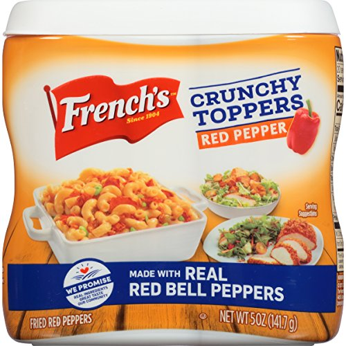(French's Red Pepper Crunchy Toppers (Fried Vegetable Toppers, Kosher Certified) 5 oz)