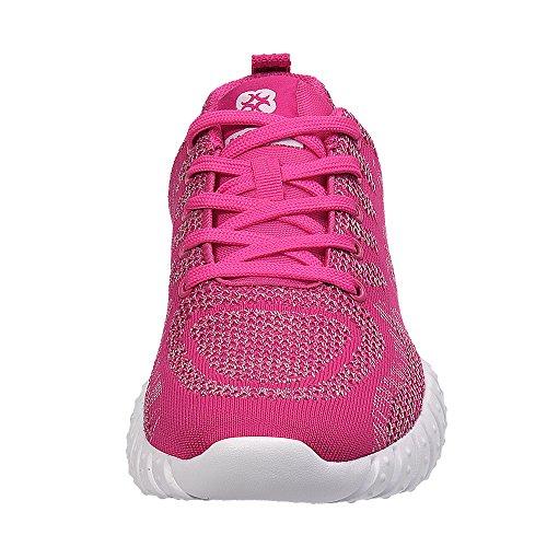 Lichtgewicht Sportschoen Voor Sportschoenen Van Aleader Dames Gebreid / Rose / Grijs