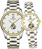 Whatswatch CARNIVAL His or Hers Automatic Mechanical Couple Watch Men and Women Gift Set of 2
