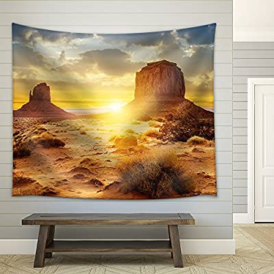 Stunning Work of Art, Made For You, Sunset at The Sisters in Monument Valley USA Fabric Wall