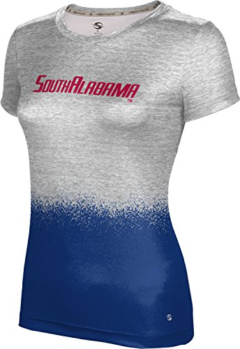 ProSphere University of South Alabama Women's Performance T-Shirt (Spray Over) FEB91 White and Blue