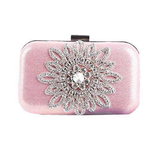 pochette sera con e da per strass notturne con club Miss matrimoni feste natalizio Borsa per Pink sera borsa per strass di sera Joy da da tAWw7qzZ