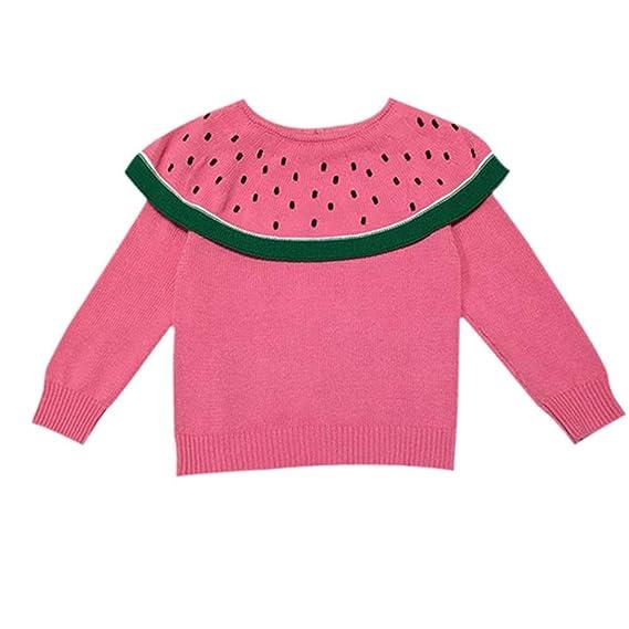 UOMOGO Felpa di Bambina Bambino Maniche Lunghe Anguria Cardigan del  Maglione del Capretto Vestiti per 1-4 Anni  Amazon.it  Abbigliamento a024246c162
