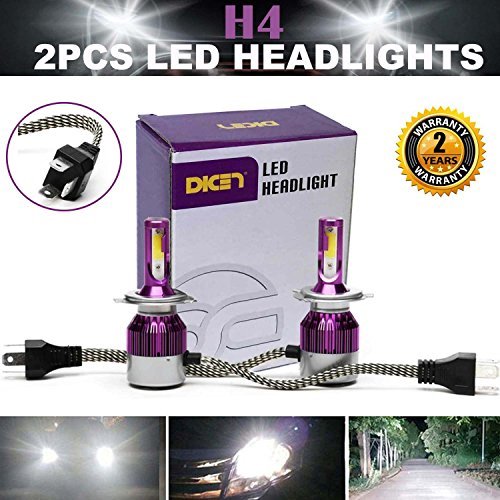 2016 Newest LED Headlight Bulbs All-in-One Conversion Kit - H4 LED High Low...