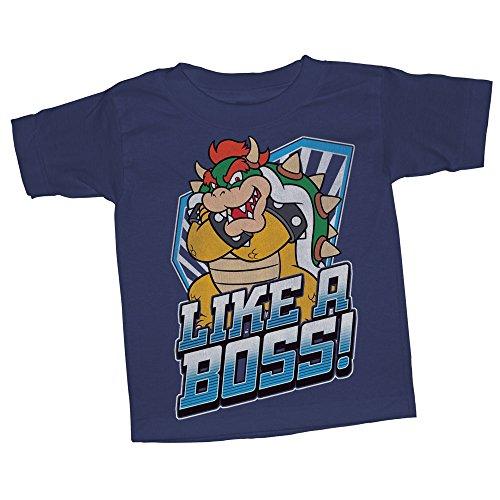 Nintendo Toddler Boys Boss Bowser Graphic T-shirt, Navy, 5T (Bowsers Kids)