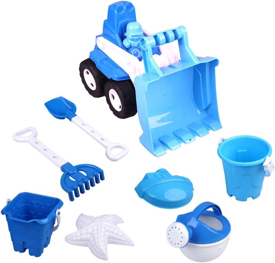 STOBOK Juego de Juguetes de Playa Creativo Juego de Juguetes de Playa Divertido Cubo para bebé niño (Azul Claro)