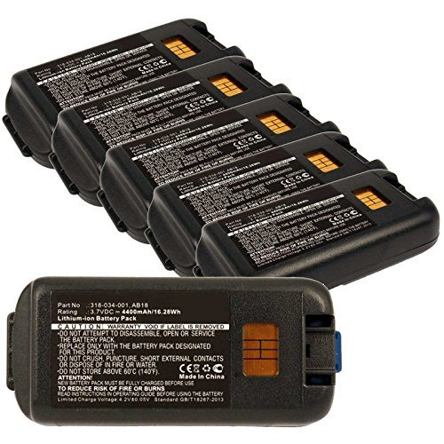 6x Exell EBS-CK3 Li-Ion 3.7V 4400mAh Batteries For Intermec CK3, CK3A. Replaces Cameron Sino CS-ICK300BL, INTERMEC 318-033-001, 318-034-001, AB17, AB18 by Exell Battery