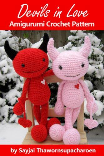 Devils in Love Amigurumi Crochet Pattern (Big Huggy Dolls Book 5)]()