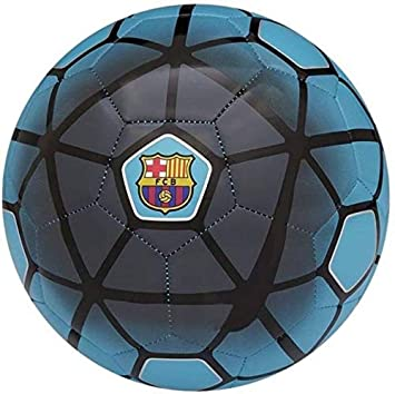 Nas FCB Rubber Football, Size 5,  Multicolour