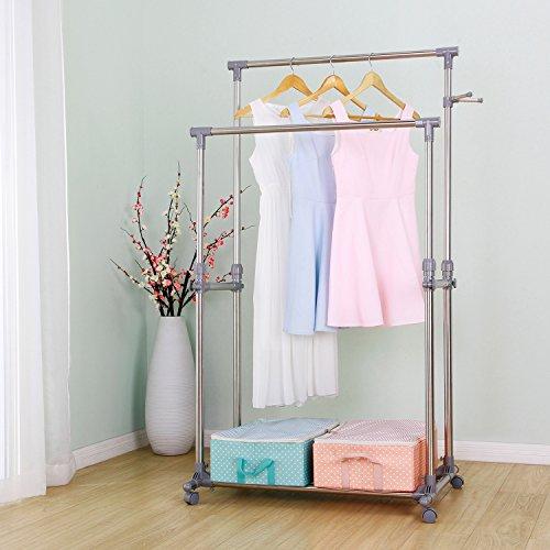Ollieroo Stainless Steel Garment Rack Adjustable