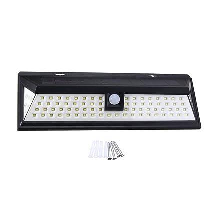 Lámpara Solares 80 LEDs Impermeable Solar Luz de Pared Automáticamente Luz de Noche Solares Focos LED