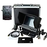 Delvcam 7in. Camera-Top SDI Monitor w/ Video Waveform and V-Mount Battery Plate (DELV-WFORM7SDIVM)