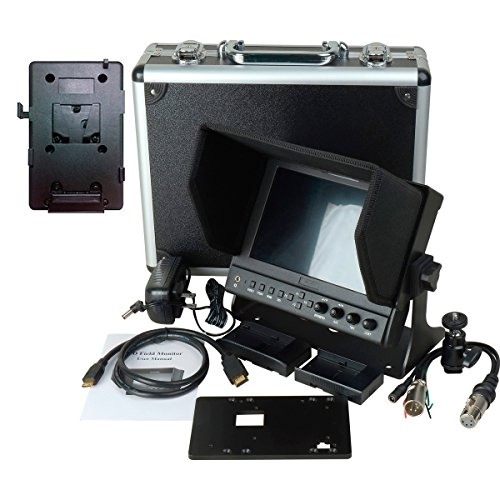Delvcam 7in. Camera-Top SDI Monitor w/ Video Waveform and V-Mount Battery Plate (DELV-WFORM7SDIVM) by Delvcam