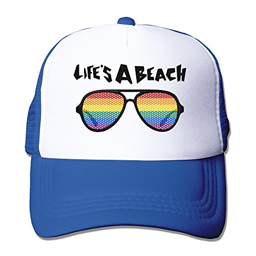 Duchess Coffee (Handson Casual Two-toned Life Is A Beach Glasses Logo Baseball Visor Cap RoyalBlue)