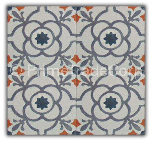 Concrete Tile Box of 14. These 100% Tiles Can Be Installed in Your Kitchen, Backsplash, Living Area, Bathroom, Hallway, Patio, Porch, Bathroom or shower. These stunning tiles bring drama, sophistication and harmony to any surface by Moroccan Arts and Crafts Ltd