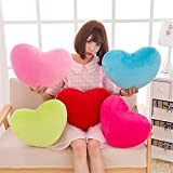 S-ssoy Plush Pillow Heart Shape Cushion Fluffy