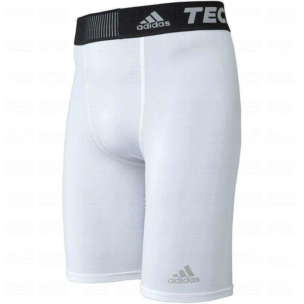 adidas Techfit メンズ ショートタイツ パフォーマンス ベース 9インチ B0187V4DSI XX-Small|ホワイト ホワイト XX-Small