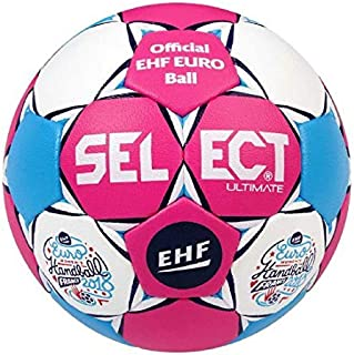 Select MB Ballon de Handball Adulte Unisexe, Pink/White/Blue, 47 cm