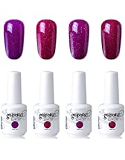 Elite99 Soak Off Gel Polish Lacquer Uv Led Nail Art Manicure Kit 4 Colors Set